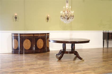 large formal traditional  mahogany dining table  leaves
