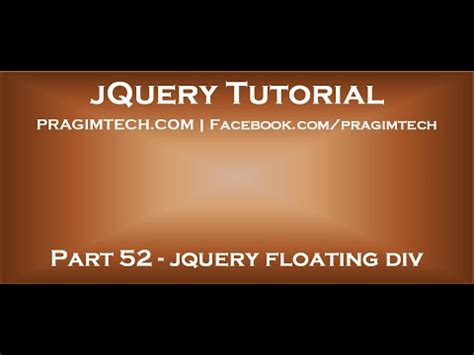 jquery floating div jquery floating div