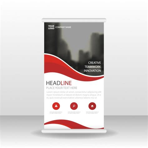 Roll Up roll up template design vector free