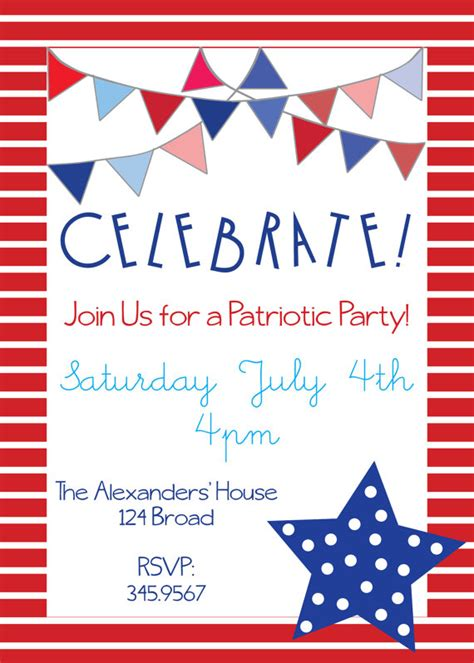 patriotic invitation templates free items similar to patriotic invitations for memorial