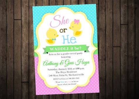35 gender reveal invitation template free premium
