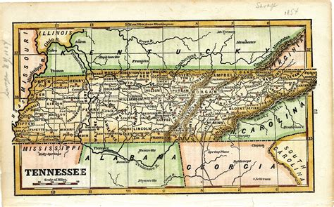 tennessee on map tennessee history through maps the shelf