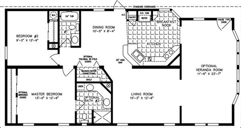 sq ft manufactured  mobile home floor plans jacobsen homes