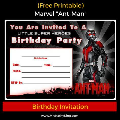 Marvel Invitation Template Free Free Marvel Ant Man Printable Birthday Invitation Templates Antmanevent Antman Disney Mrs