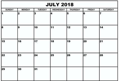 printable calendar july 2018 july 2018 calendar printable free calendar template