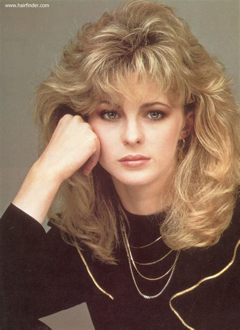 hair styles with bangs and layers around the face romantic long 1980s hairstyle with layers around the bangs