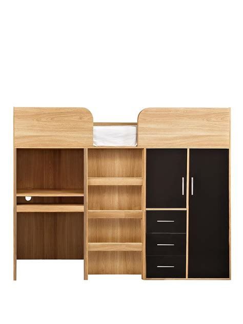 Mid Sleeper Beds With Desk by Kidspace Ohio Mid Sleeper Bed Desk Drawers And Wardrobe