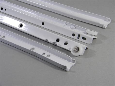 kv drawer slides installation kv 1805 white epoxy drawer slides 22 quot