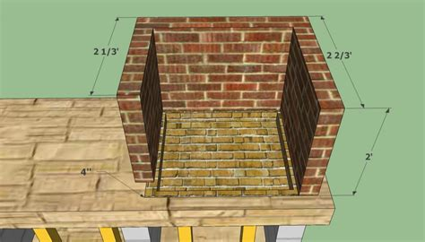 brick pit plans bbq pit plans howtospecialist how to build step by