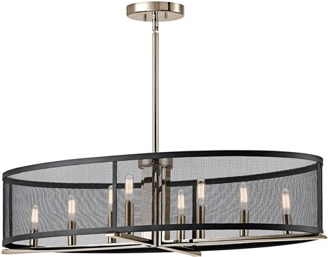 kichler island lighting kichler 43712pn titus contemporary polished nickel kitchen
