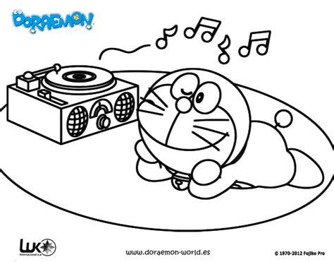 imagenes para dibujar musica dibujo de doraemon escuchando m 250 sica para colorear