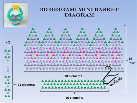 3d origami woodstock tutorial origami 3d mikaglo 266 mini koszyczek z origami