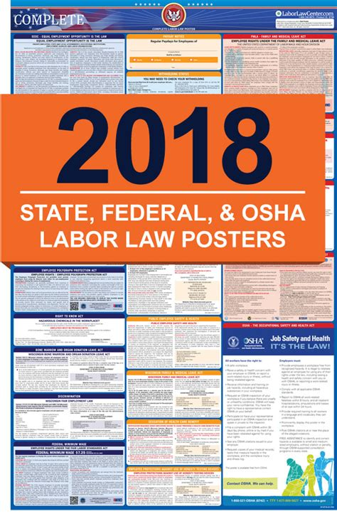 printable federal labor laws poster 2018 labor law posters all in one state federal