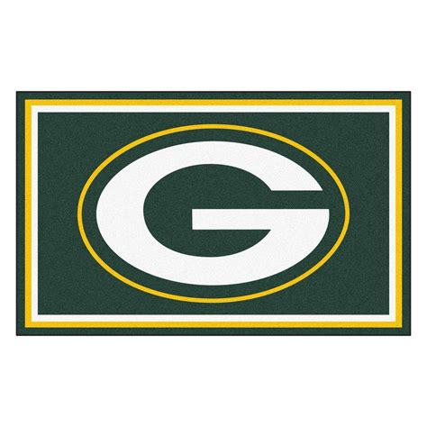 fanmats green bay packers 4 ft x 6 ft area rug 6577