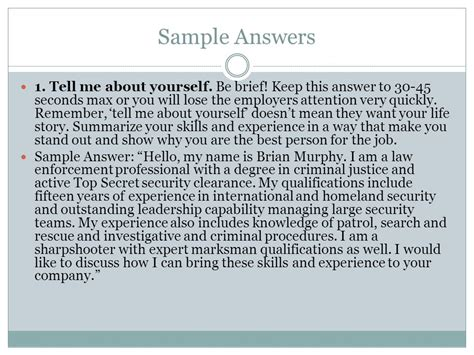 sle of tell me about yourself resume tell me about yourself exles 28 images top 20 business analyst questions and answers
