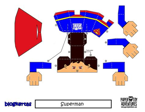 Superman Papercraft - downloads dc universe 171 papertoyadventures