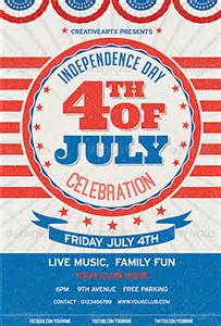 4th of july templates 120 best 4th of july u s independence day flyers print