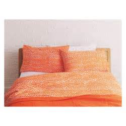 orange duvet sets noah orange triangle print duvet cover set buy