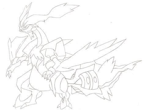 pokemon coloring pages black kyurem coming from pokemon white 2 white kyurem by