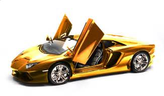 Lamborghini Gold Plated This Gold Plated Lamborghini Model Car Will Set You Back