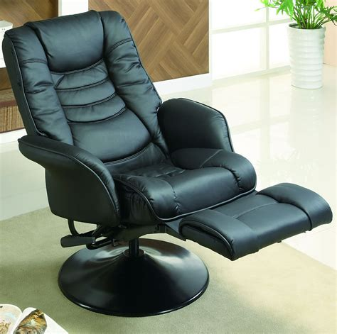 Euro Style Swivel Chair With Recline In Black Stargate Swivel Reclining Chairs