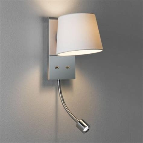 Bedroom Wall Reading Light Bedroom Wall Light Incorporating Led Arm Book Reading Light