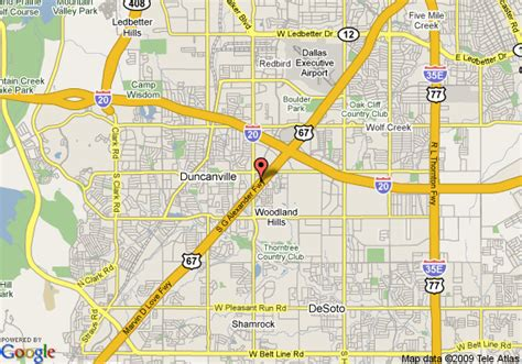 map of duncanville texas map of inn express hotel suites duncanville duncanville
