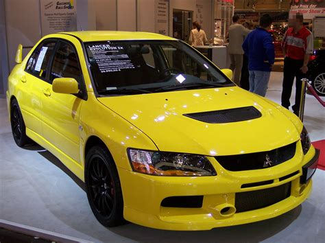 mitsubishi yellow file mitsubishi lancer evolution ix yellow vr ems jpg