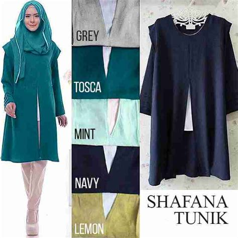 baju atasan wanita safhana tunik busana muslim modern