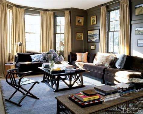 dark brown living room loooooove this entire look would like to do something