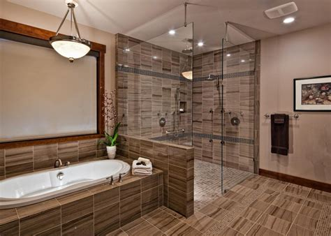 contemporary stone bathroom features spa shower