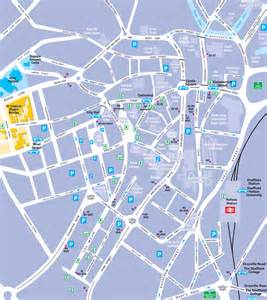 sheffield map sheffield city centre map maps and travel advice