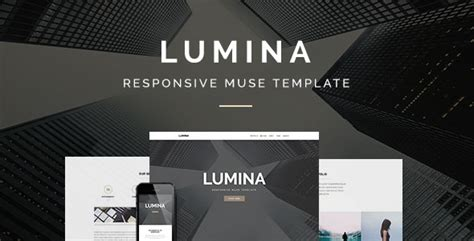 Lumina Responsive Muse Template For Creatives Agencies By Stylewish Muse Templates Responsive