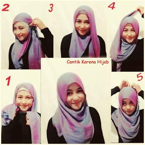 tutorial hijab paris segi empat sederhana