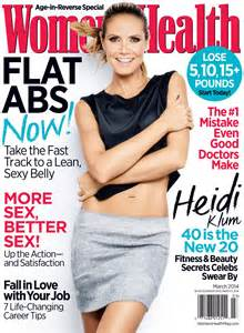 women magazine heidi klum women s health magazine march 2014 cover