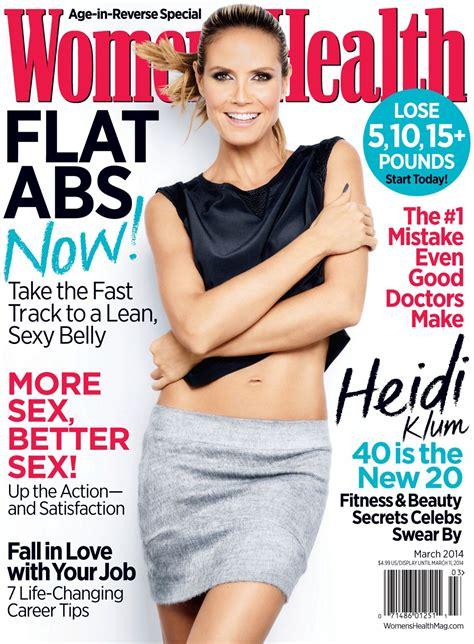women magazine heidi klum women s health magazine march 2014 cover