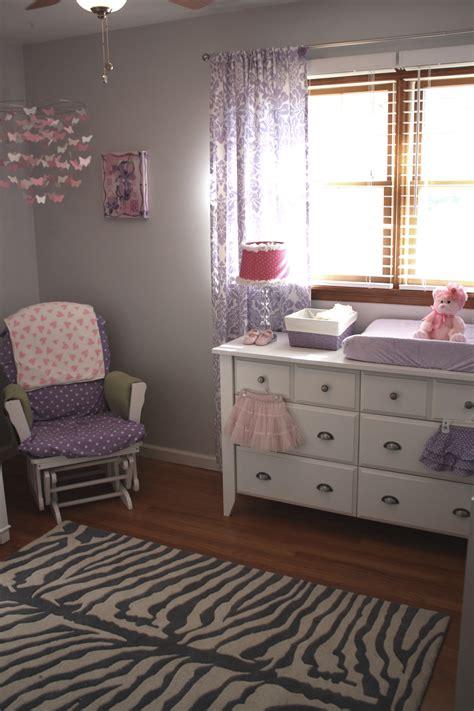 purple and grey room purple and gray girly nursery project nursery
