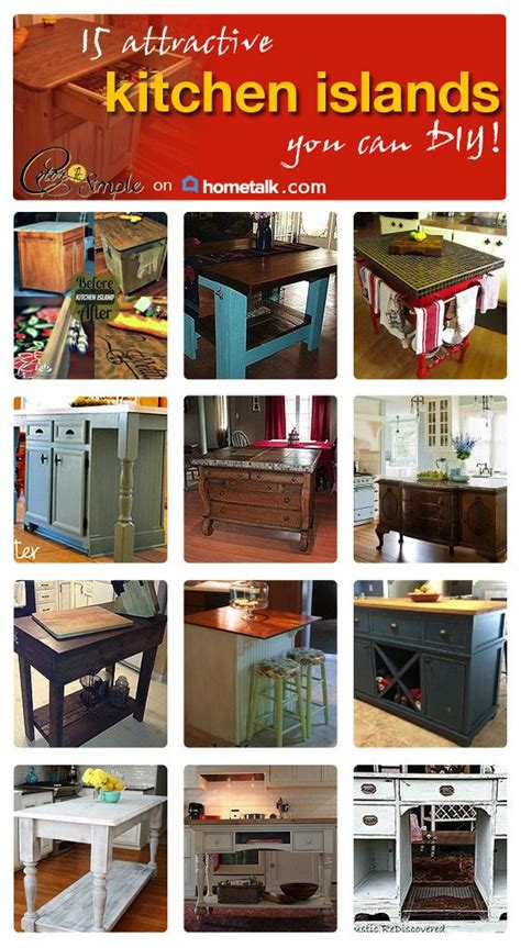 Make Your Own Kitchen Island Ideas Create Your Own Kitchen Islands Here Are 15 Great