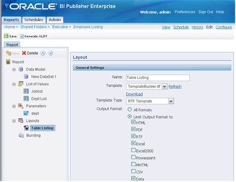 oracle layout template oracle business intelligence publisher report designer s guide