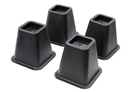 Bed Lifters by Jeronic 4 Pack 5 25 Inch Bed Risers Furniture Riser Bed