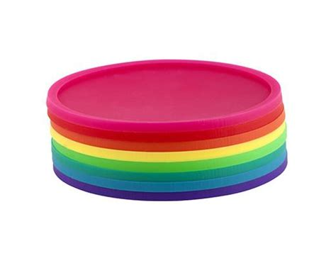 Brighten Your With Colored Coasters by Rainbow Coasters Kikkerland Design Inc