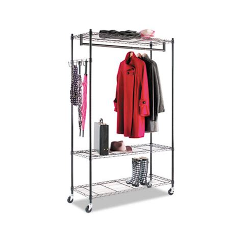 alera wire shelving garment rack alera wire shelving garment rack alegr354818bl shoplet
