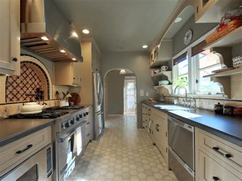 galley style kitchen with island 2018 how to decorate a galley kitchen hgtv pictures ideas hgtv