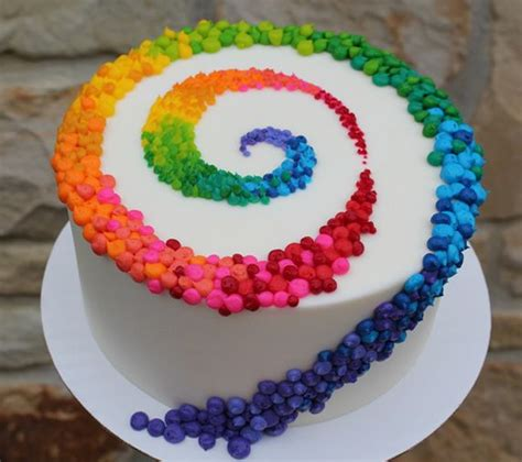 colorful birthday cakes beautiful cake pictures colorful patterned swirl on white