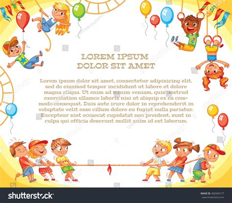 Amusement Park Playground Template Advertising Brochure Stock Vector 456949177 Shutterstock Playground Template