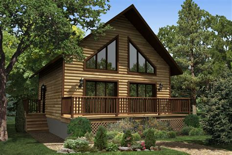 Cottages House Plans by Maison Neuve Chalets Mod 232 Le St Sauveur