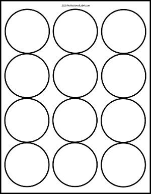 Matte White Printable Sticker Labels 100 Sheets 2 5 Inch Round 4200m 2 Inch Label Template 12 Per Sheet