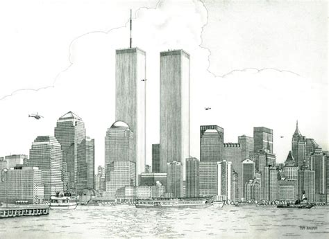 skyline new york city pencil and in color skyline new york city