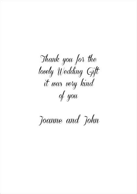 wedding thank you card wording gift vouchers wedding thank you cards wedding gift thank you card