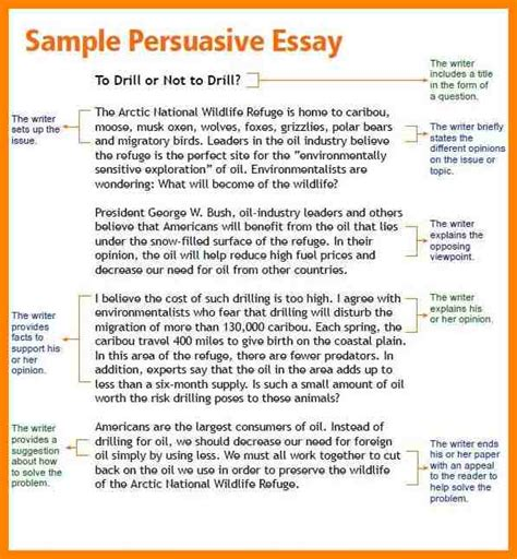 Argumentative Essay Model by 7 Persuasive Essay Model Address Exle